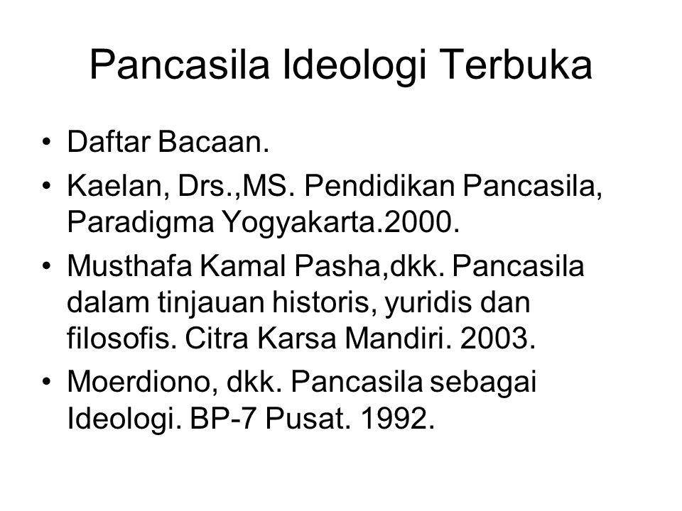 Pancasila Ideologi Terbuka