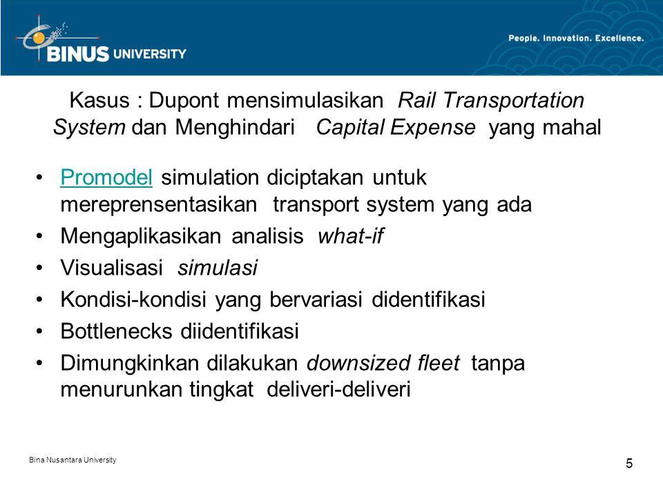Mengaplikasikan analisis what-if Visualisasi simulasi