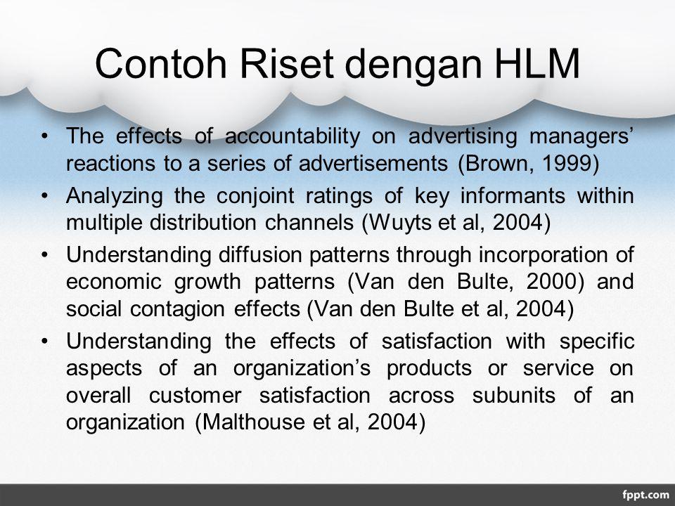 Contoh Riset dengan HLM