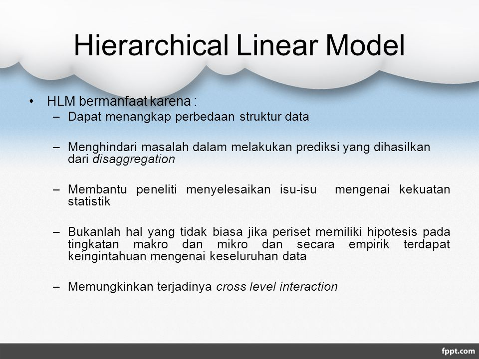 Hierarchical Linear Model