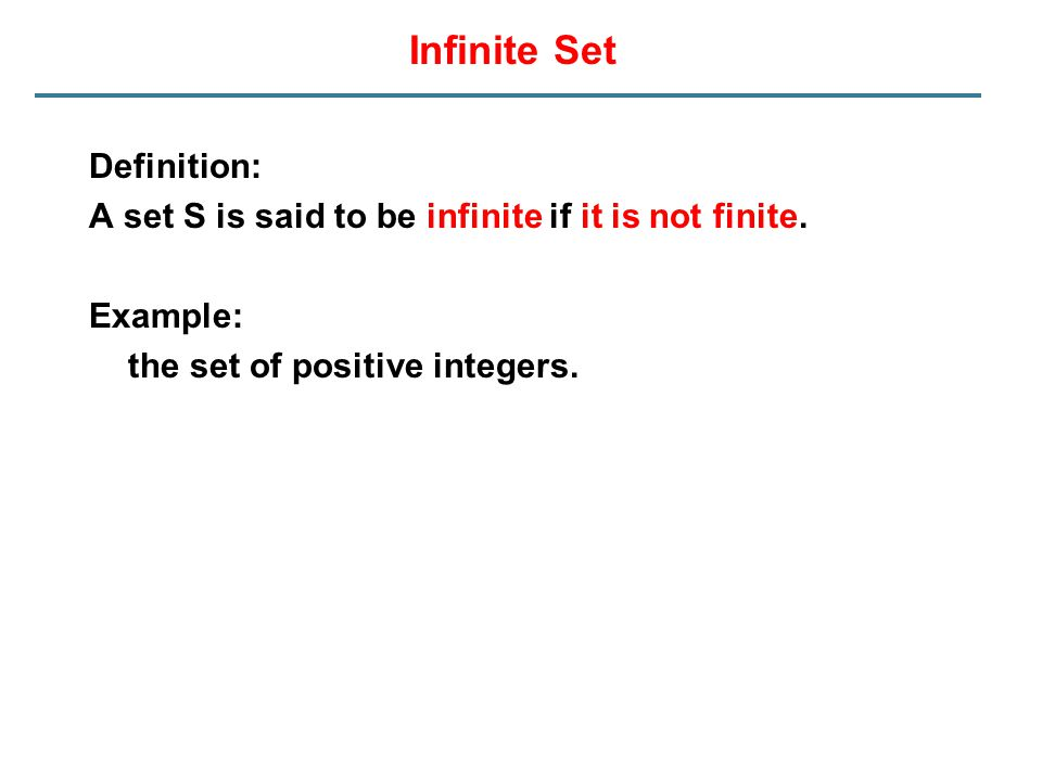 Infinite Set Definition: