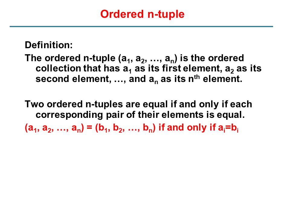 Ordered n-tuple Definition: