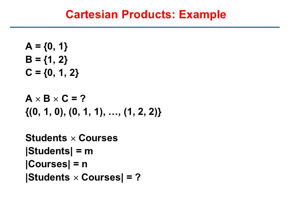 Cartesian Products: Example