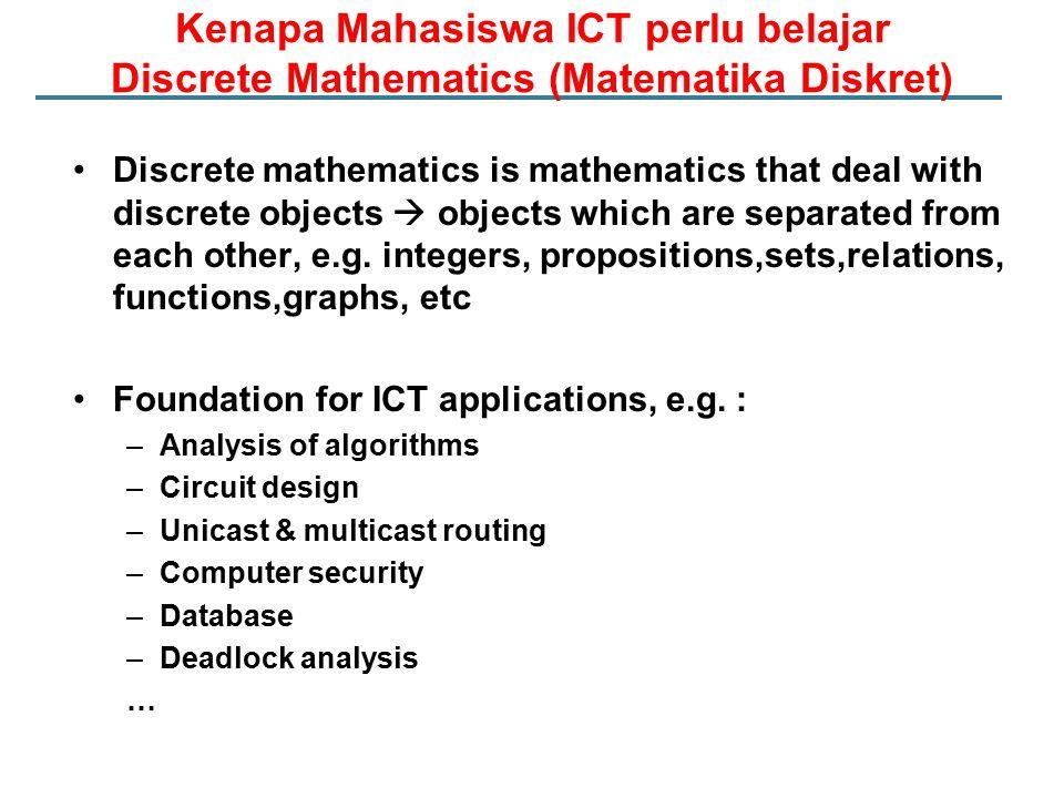 Kenapa Mahasiswa ICT perlu belajar Discrete Mathematics (Matematika Diskret)