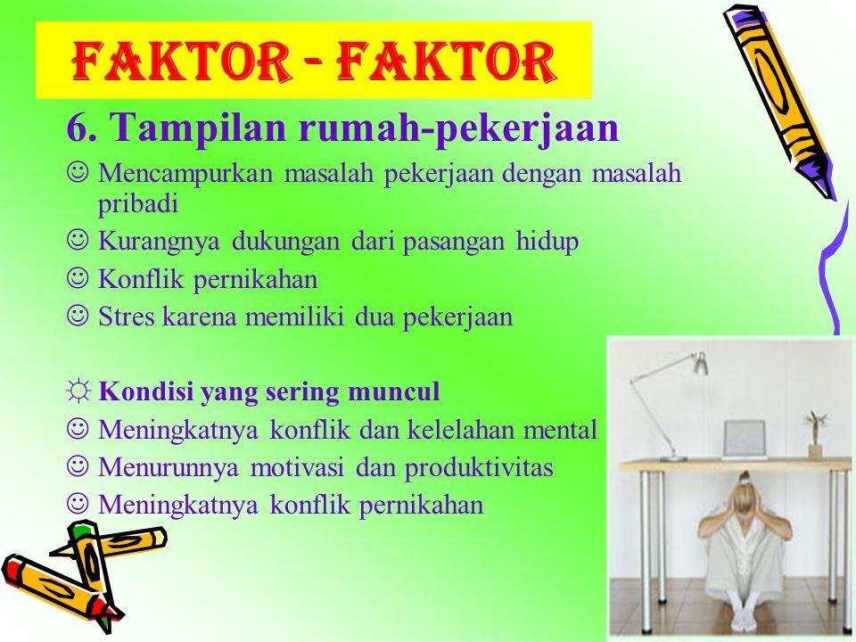 FAKTOR - FAKTOR 6. Tampilan rumah-pekerjaan