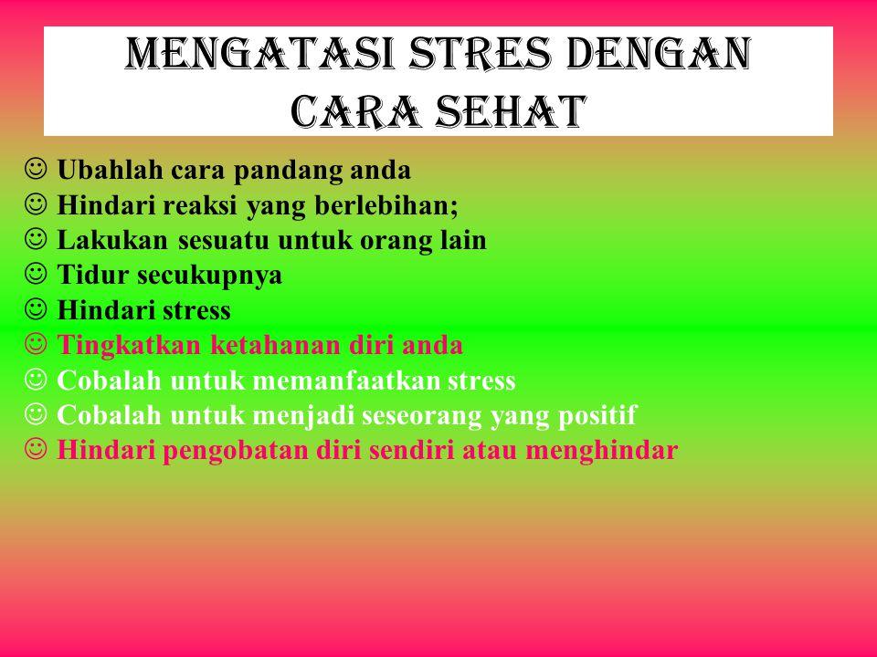 Mengatasi Stres dengan Cara Sehat