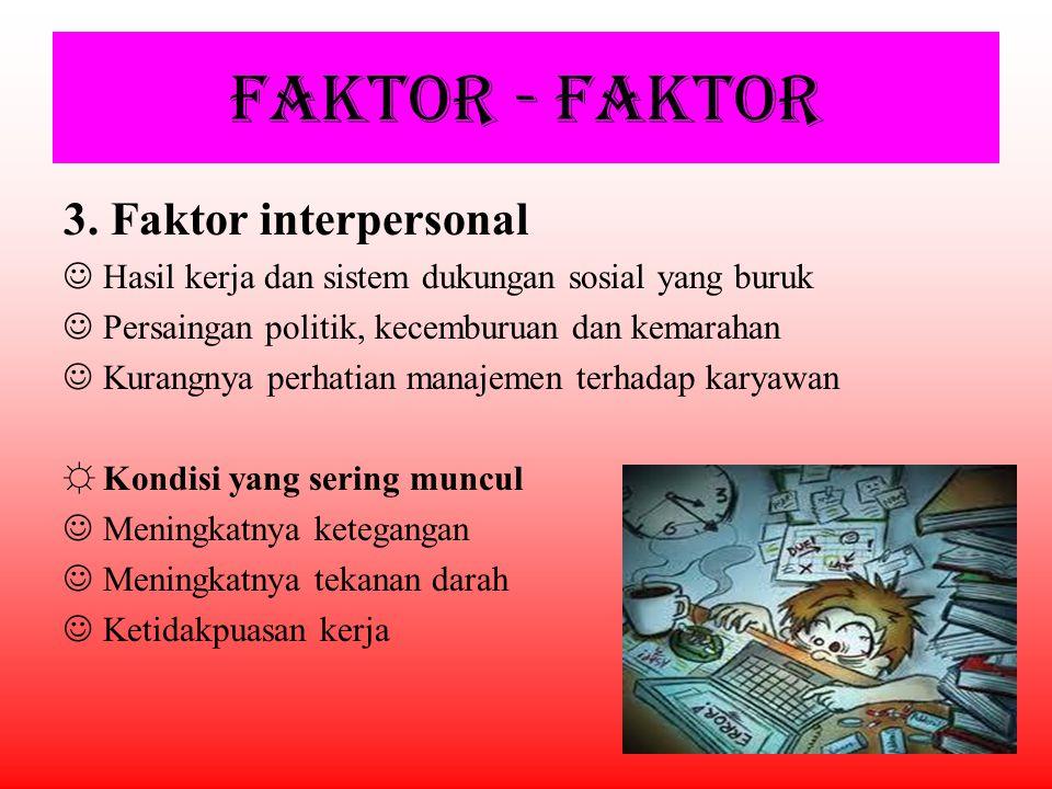 FAKTOR - FAKTOR 3. Faktor interpersonal
