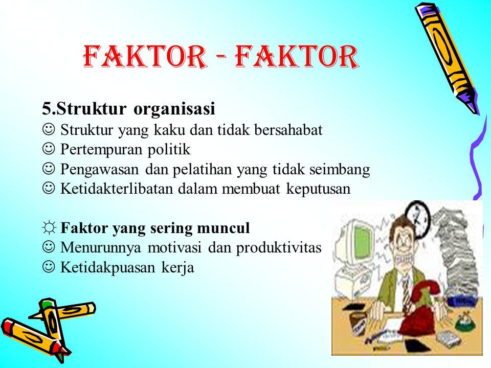 FAKTOR - FAKTOR 5.Struktur organisasi