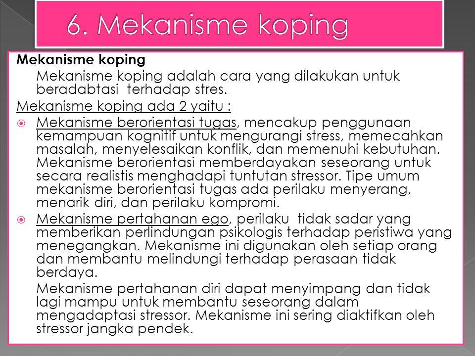6. Mekanisme koping Mekanisme koping