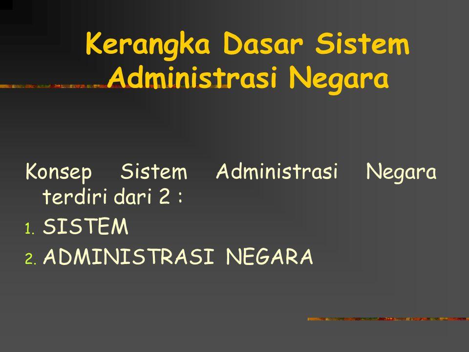 Kerangka Dasar Sistem Administrasi Negara