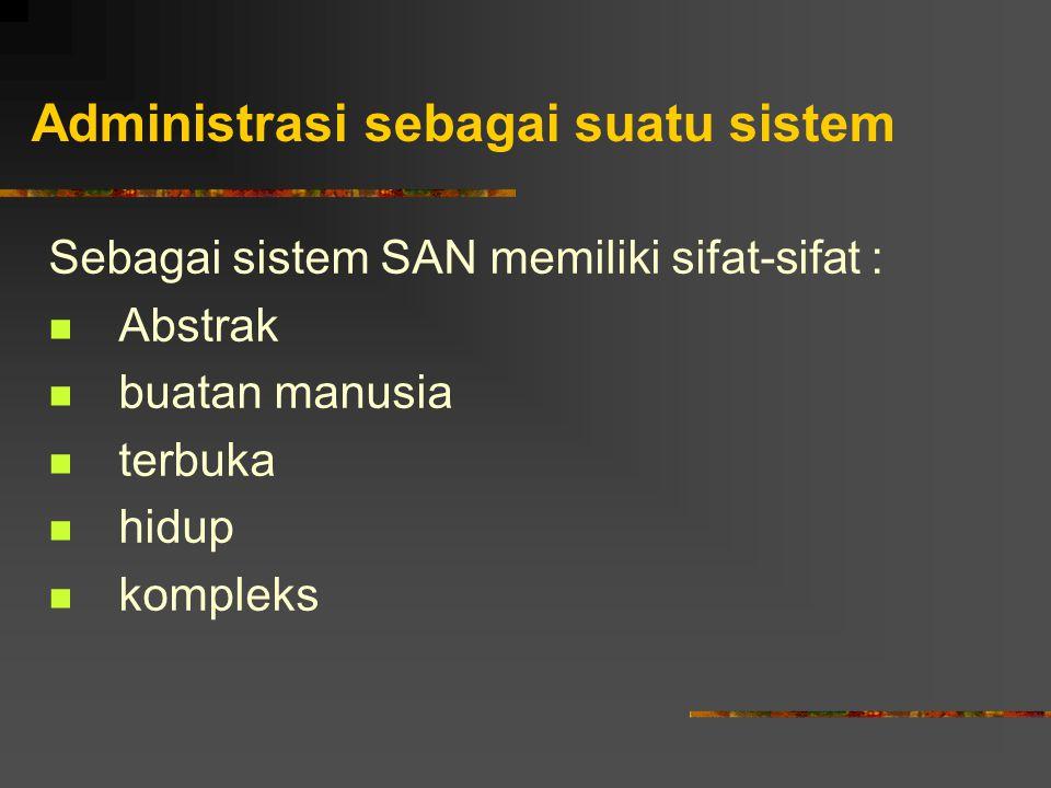 Administrasi sebagai suatu sistem