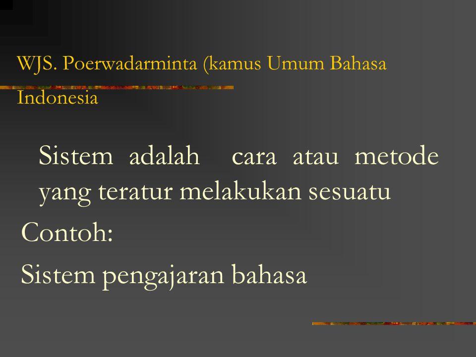 WJS. Poerwadarminta (kamus Umum Bahasa Indonesia