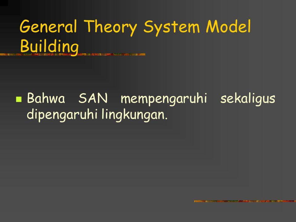 General Theory System Model Building