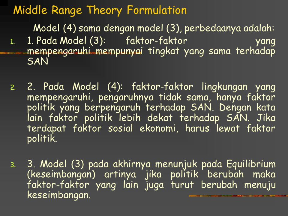 Middle Range Theory Formulation