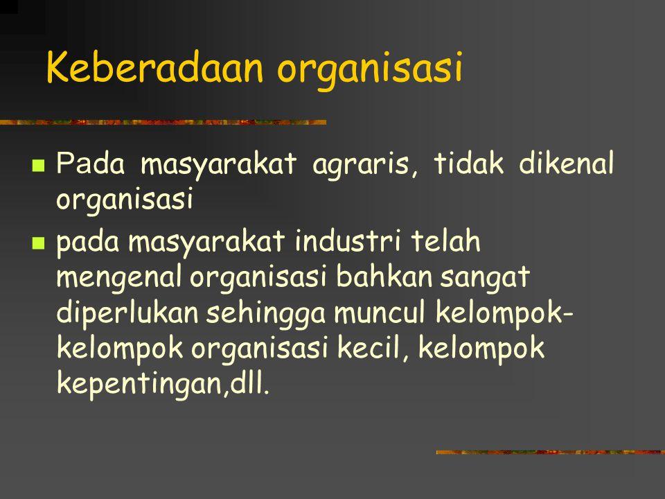 Keberadaan organisasi
