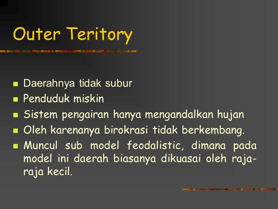 Outer Teritory Daerahnya tidak subur Penduduk miskin