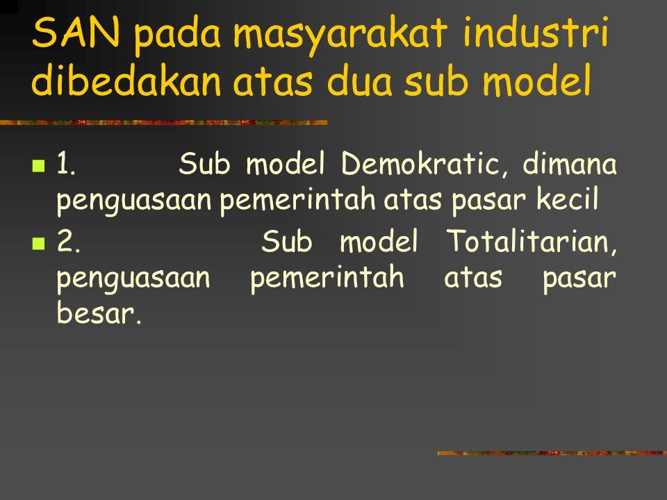 SAN pada masyarakat industri dibedakan atas dua sub model