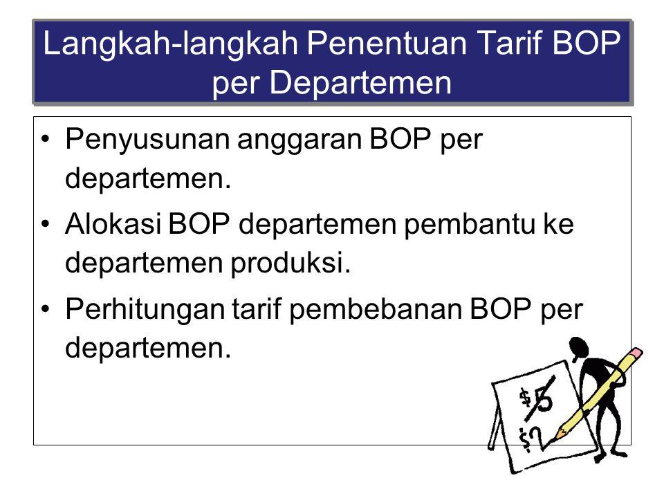 Langkah-langkah Penentuan Tarif BOP per Departemen