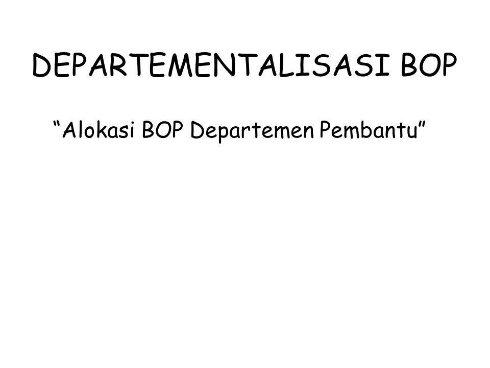 DEPARTEMENTALISASI BOP