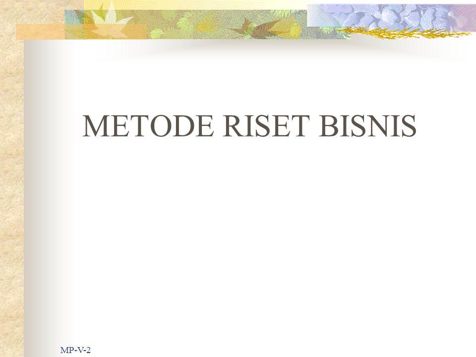 METODE RISET BISNIS MP-V-2