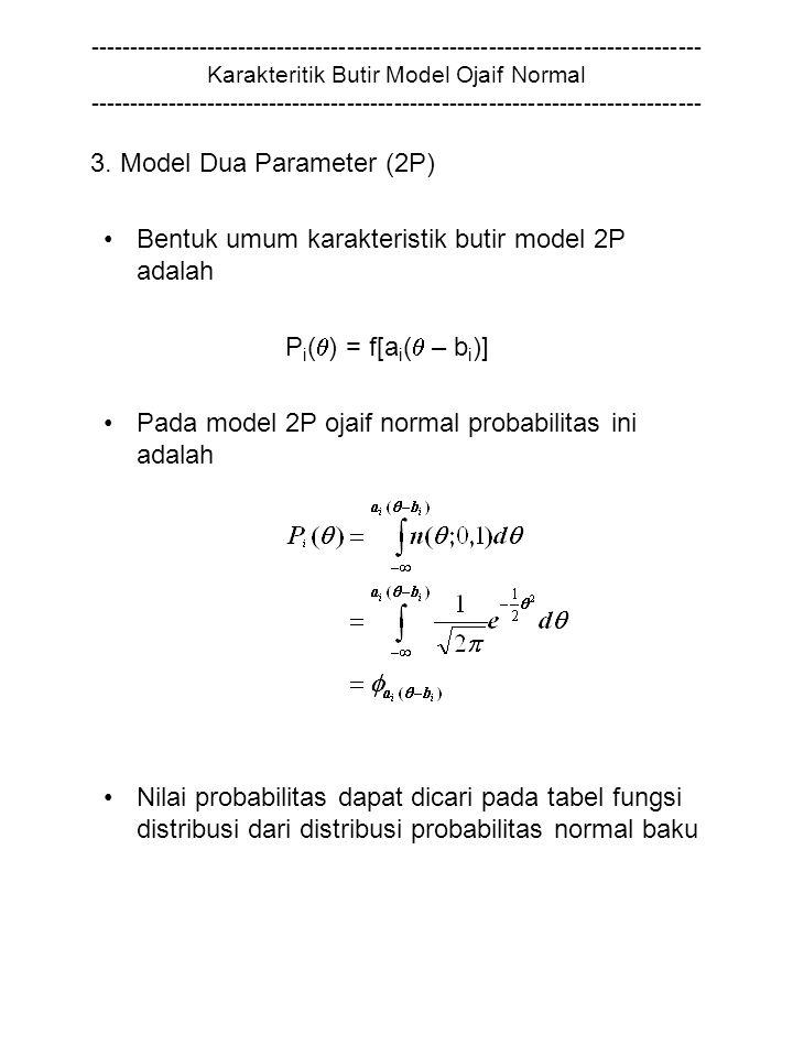 3. Model Dua Parameter (2P)