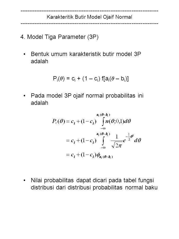 4. Model Tiga Parameter (3P)