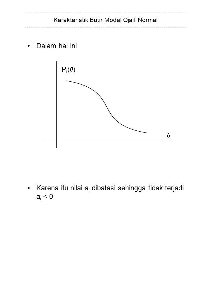 Karena itu nilai ai dibatasi sehingga tidak terjadi ai < 0 Pi()