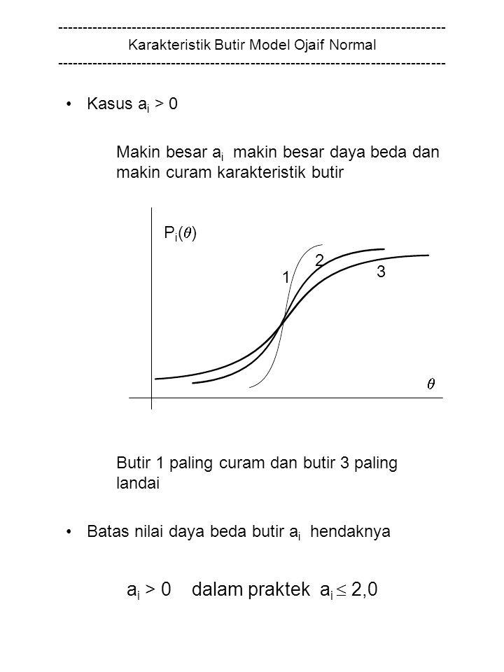 ai > 0 dalam praktek ai  2,0