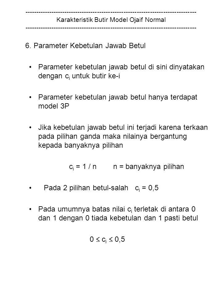 6. Parameter Kebetulan Jawab Betul