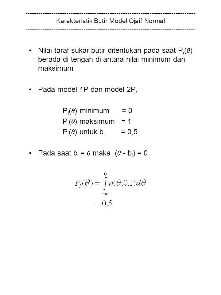 Pada saat bi =  maka ( - bi) = 0