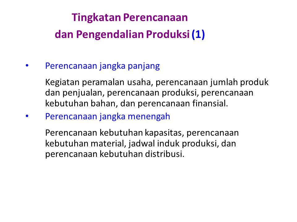 Tingkatan Perencanaan dan Pengendalian Produksi (1)