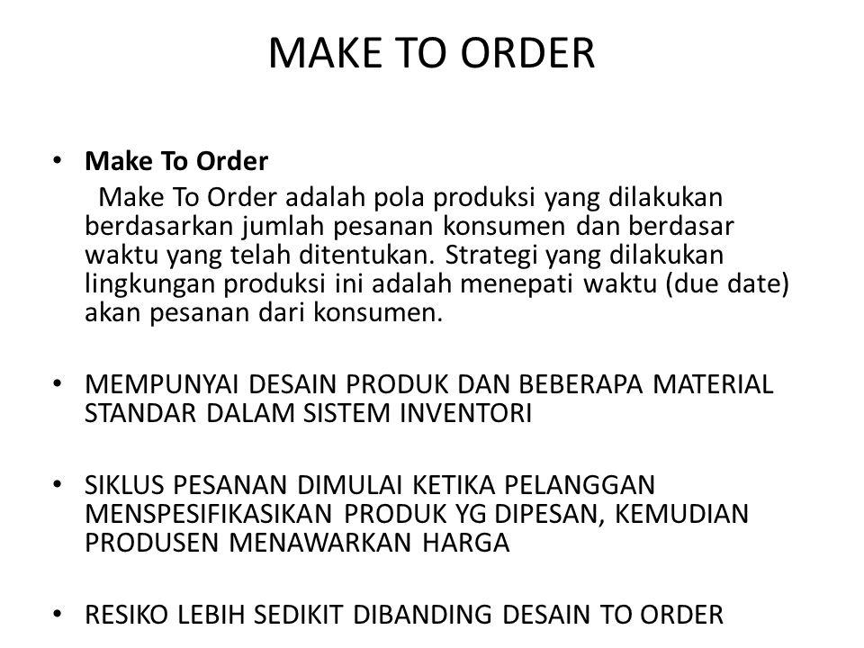 MAKE TO ORDER Make To Order