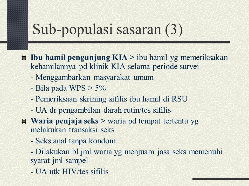 Sub-populasi sasaran (3)