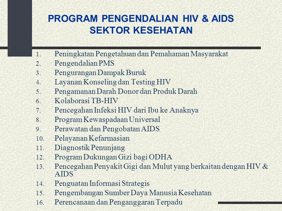 PROGRAM PENGENDALIAN HIV & AIDS SEKTOR KESEHATAN