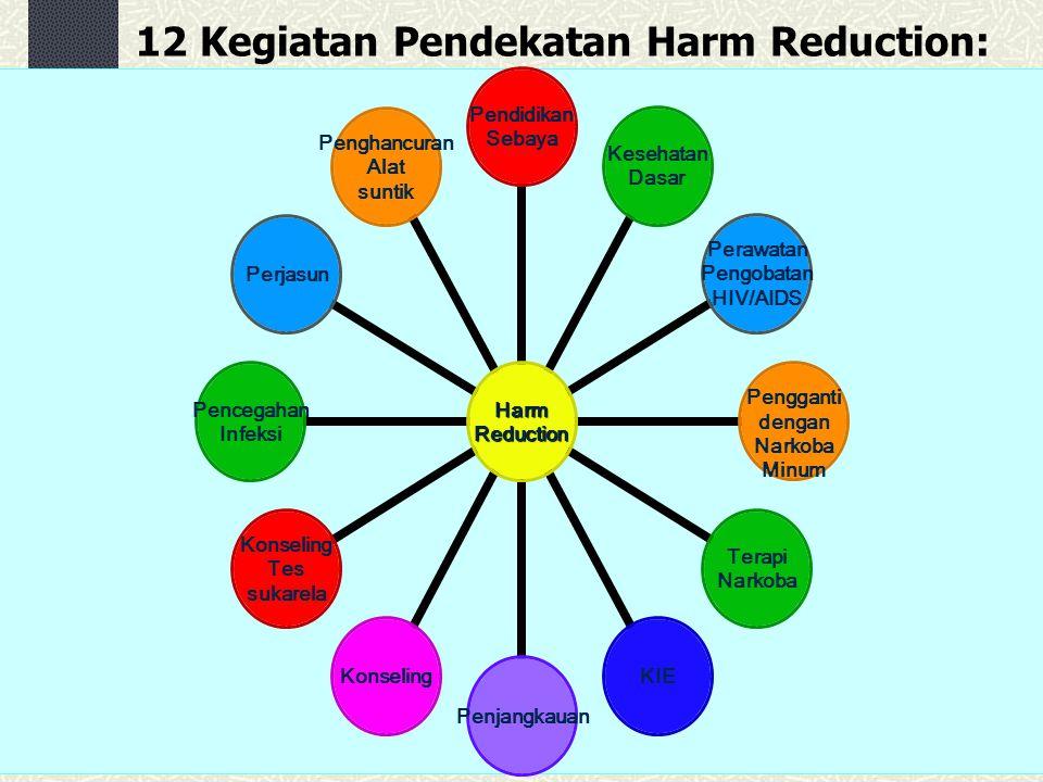 12 Kegiatan Pendekatan Harm Reduction: