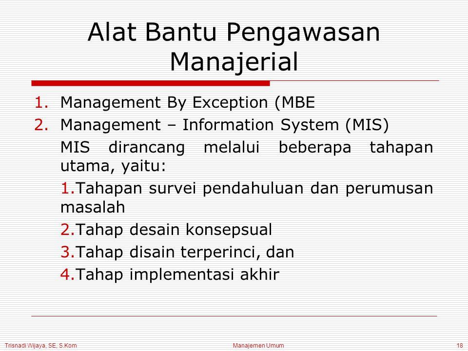 Alat Bantu Pengawasan Manajerial