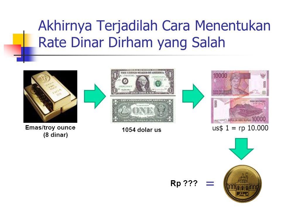 Akhirnya Terjadilah Cara Menentukan Rate Dinar Dirham yang Salah