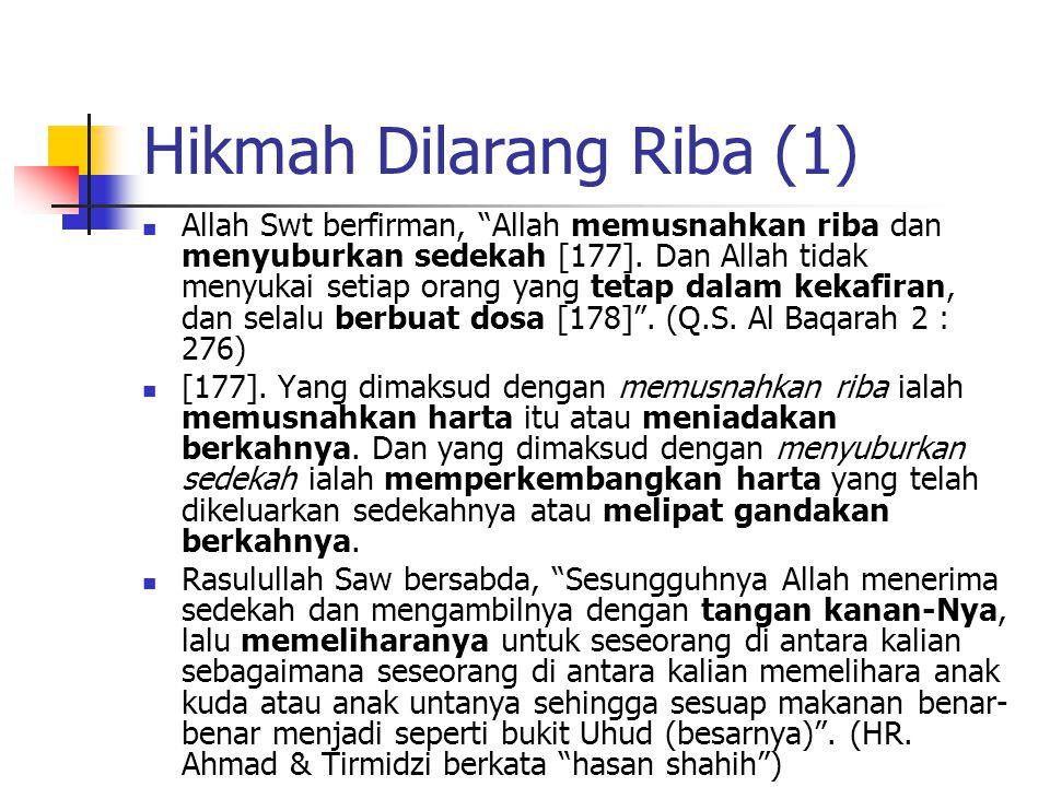 Hikmah Dilarang Riba (1)