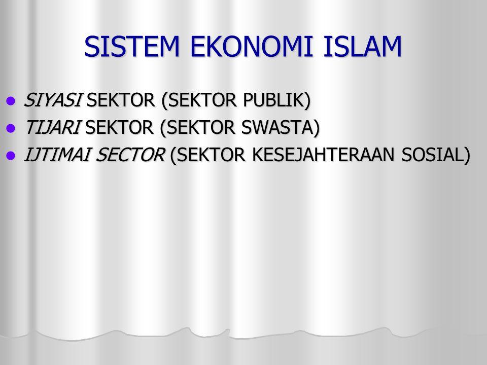 SISTEM EKONOMI ISLAM SIYASI SEKTOR (SEKTOR PUBLIK)