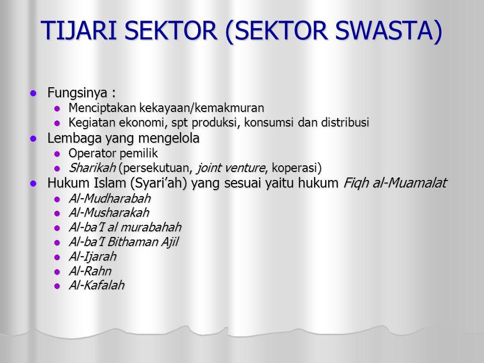 TIJARI SEKTOR (SEKTOR SWASTA)