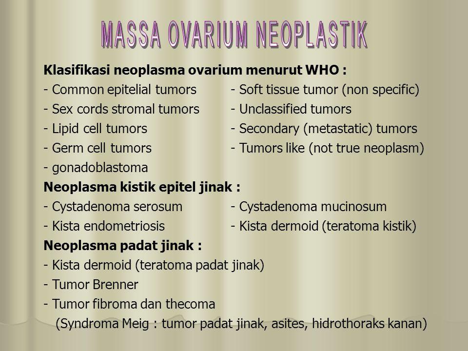 MASSA OVARIUM NEOPLASTIK
