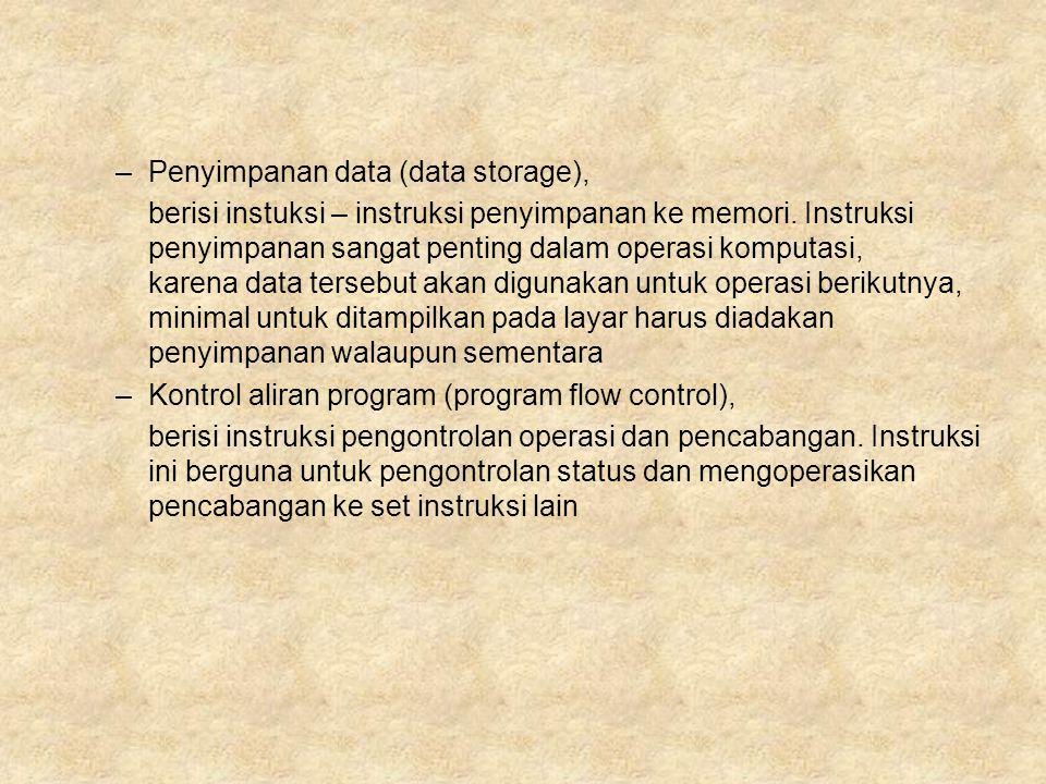 Penyimpanan data (data storage),
