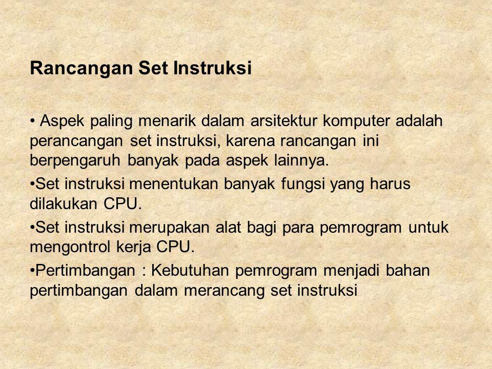 Rancangan Set Instruksi
