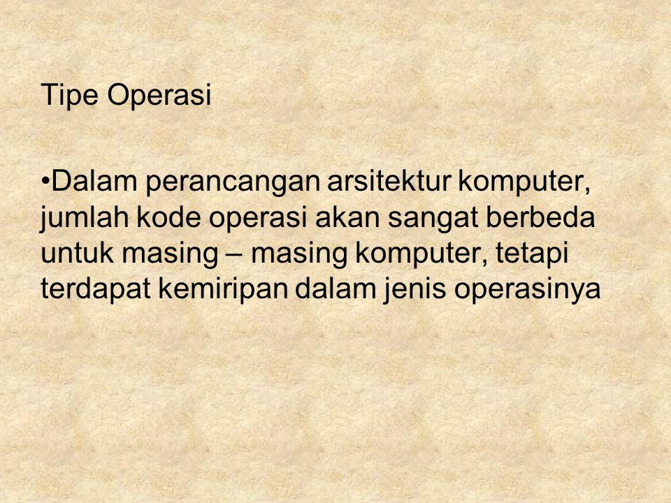 Tipe Operasi