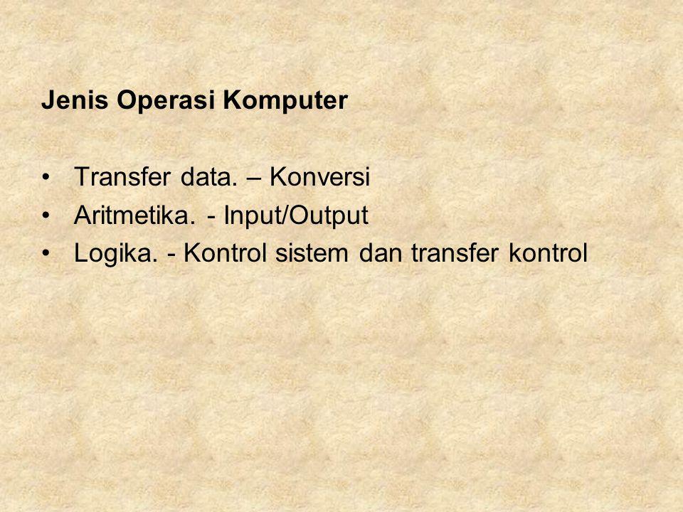 Jenis Operasi Komputer