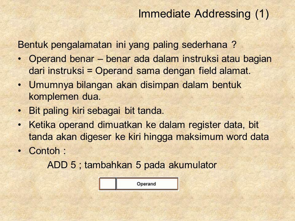 Immediate Addressing (1)