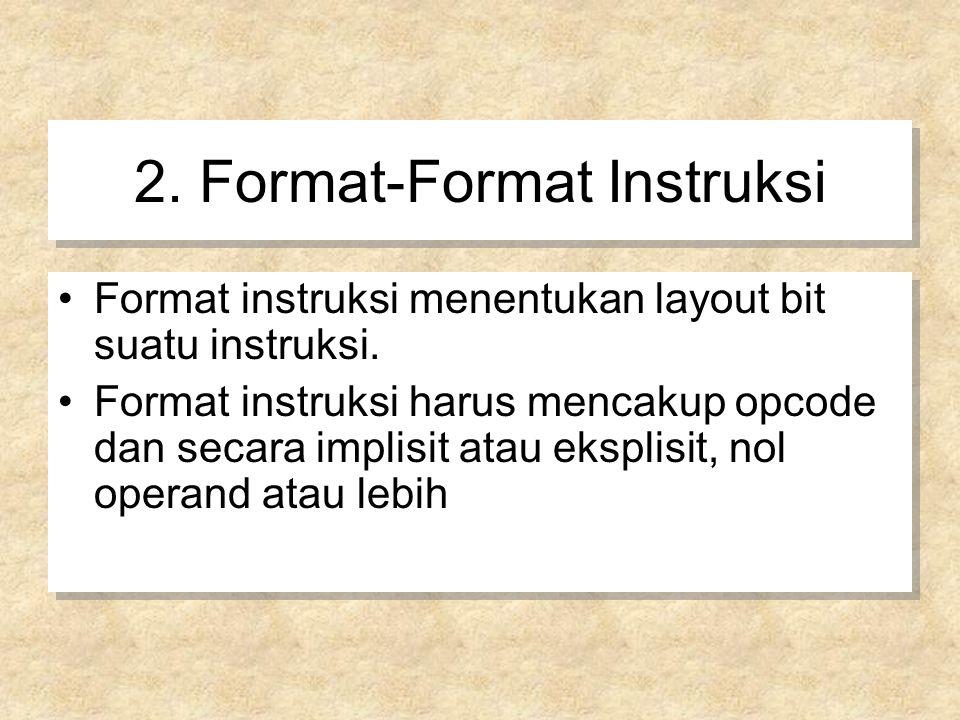 2. Format-Format Instruksi