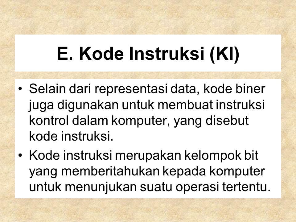 E. Kode Instruksi (KI)