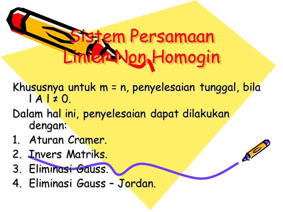 Sistem Persamaan Linier Non Homogin