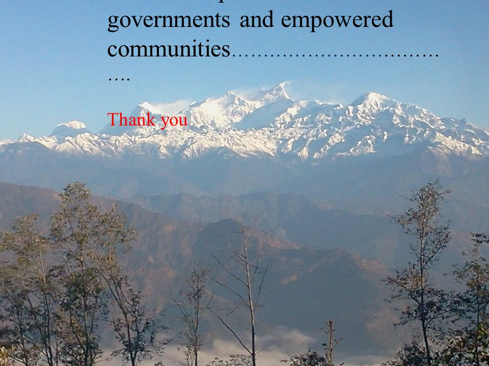 Towards capable local governments and empowered communities……………………………….